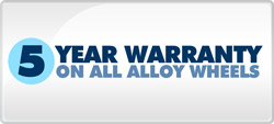 5 Year Warranty on Alloy Wheels