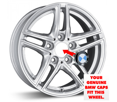 Use your OEM centre caps with this wheel.